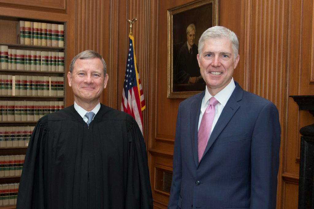 Supreme Court Justices John Roberts and Neil Gorsuch disagreed over the definition of a seizure.